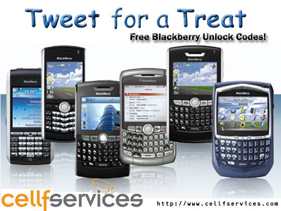 Tweet for a Treat: Free Blackberry Unlock Codes for any Rogers, AT&T