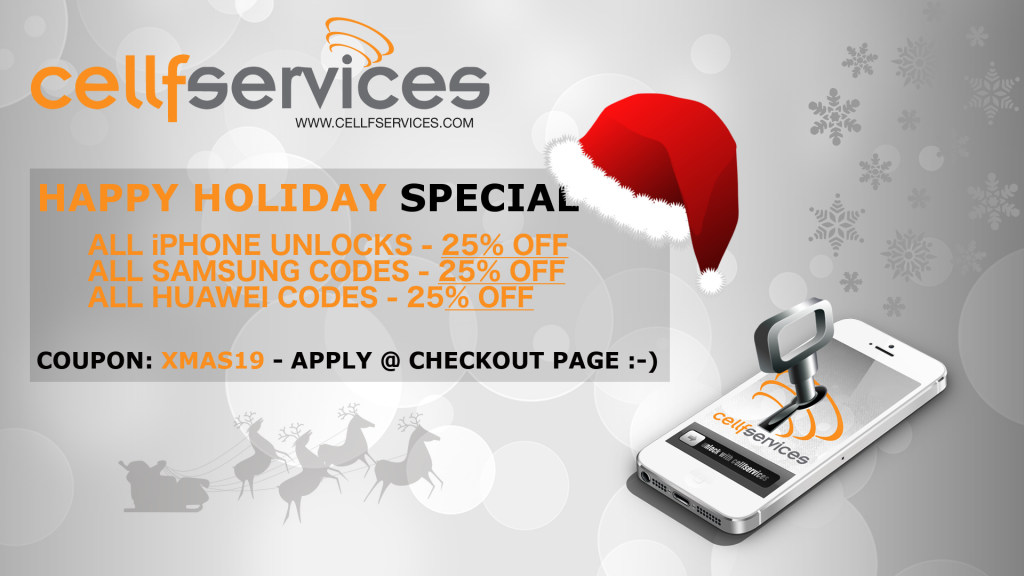 Cellfservices Christmas Unlocking Special 2019